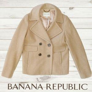 BANANA REPUBLIC Classic Camel Wool Peacoat